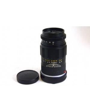 Leitz Wetzlar Leica Elmarit 90mm F2.8 M Mount Nero con Tappi
