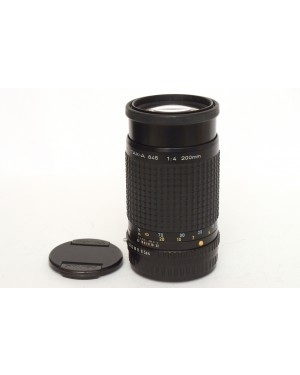Smc Pentax-A 645 200mm F4 Con Tappi In eccelenti condizioni. Funziona bene.