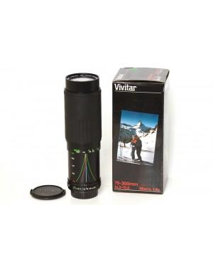 Vivitar Zoom 75-300mm F4.5-5.6 Macro 1 4x K Mount per Pentax K
