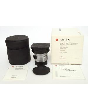 Leica 11897 Leitz 21mm F2.8 ELMARIT-M Asph. Silver  Scatolato con Documenti