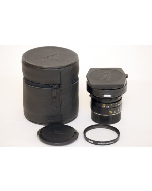 Leica Elmarit-M 24mm F2.8 Asph. Con Paraluce, Filtro, Tappi e Custodia