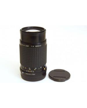 Pentax a 645 200mm F4 con Coperchi Originali in Eccellenti condizioni