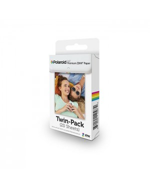 Polaroid-PELLICOLA POLAROID ZINK PER SNAP, SOCIALMATIC, ZIP PRINTER (20PZ.)-20