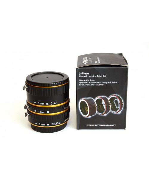 Generico-ANDOER MACRO EXTENSION TUBE SET 3-PIECE 13-21-31MM PER CANON-20