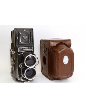 Rolleiflex-Rollei Tele-Rolleiflex TLR Biottica con Sonnar 135 / 4 e borsa Originale Rara Mint-10