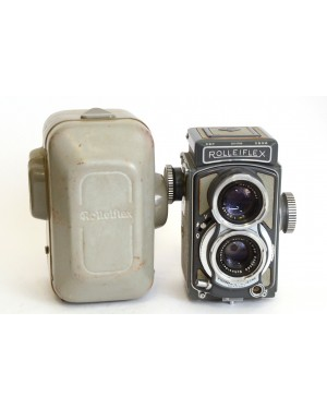 Rolleiflex-Rolleiflex BABY TLR 4x4 con Xenar 60/3.5 + Custodia NUMERO DI SERIE: 2014786-10