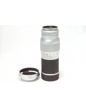 Leica-Leitz Leica Hektor 13,5cm f 4.5 (135mm1:4.5) M Mount Silver Tappi e Paraluce-10