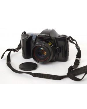 Olympus-Olympus OM101 Power Focus + 50mm F2 con Tappo e Cinghia a Tracolla-10
