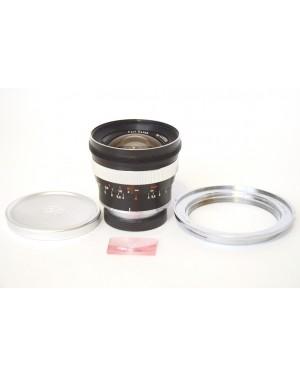 Zeiss-Carl Zeiss Distagon 18mm F4 Contarex Mount con Tappi Originali e Custodia-10