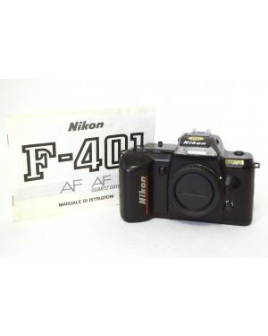 Nikon-Nikon AF F-401 solo corpo con Manuale di Istruzioni in Italiano-10