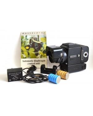 Hasselblad-Hasselblad 500 EL/M Motorizzata + Planar 1:3.5/100 Automatic Diaphram Contol Rarissima-10