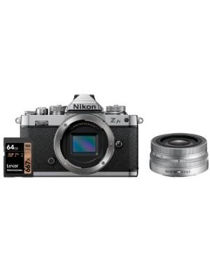 Nikon-FOTOCAMERA NIKON Z FC + NIKKOR DX 16-50 VR SILVER + LEXAR PRO 667X 64GB PREORDINE-10