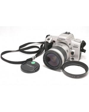 Minolta-Minolta Dynax 404si Silver con AF Zoom 28-80mm + Cinghia e Paraluce-10
