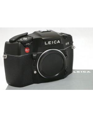 Leica-Leica R8 Nera con Coperchio, Tracolla, Scatola. Eccellenti condizioni Funziona tutto-10