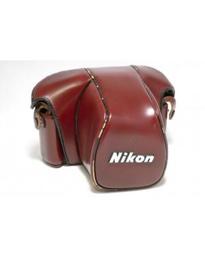 Nikon-Borsa Pronto per Nikon F3 Marrone / Rossiccio con Segni duso-10