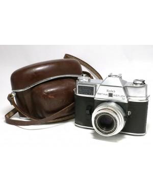 Kodak-Kodak Retina Reflex IV con Borsa pronto in cuoio originale-10