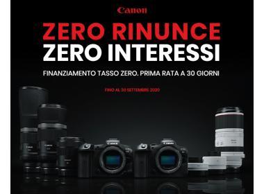 Canon Finanziamento Tasso Zero 2020