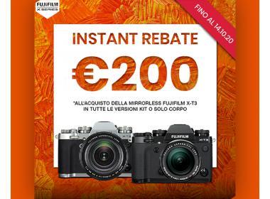 Fujifilm Instant Rebate X-T3